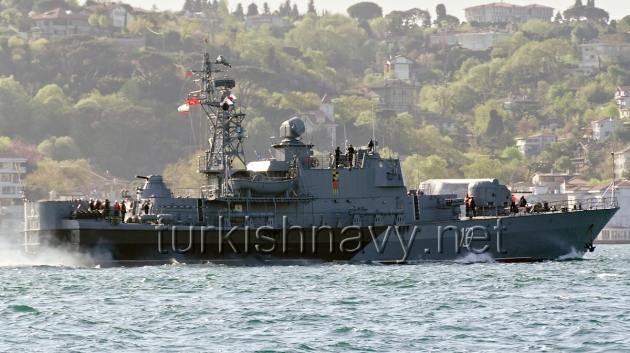 The Bulgarian Corvette 13 BGS Reshitelni. This photo was taken during the April 2012 Activation of the BlackSeaFor.