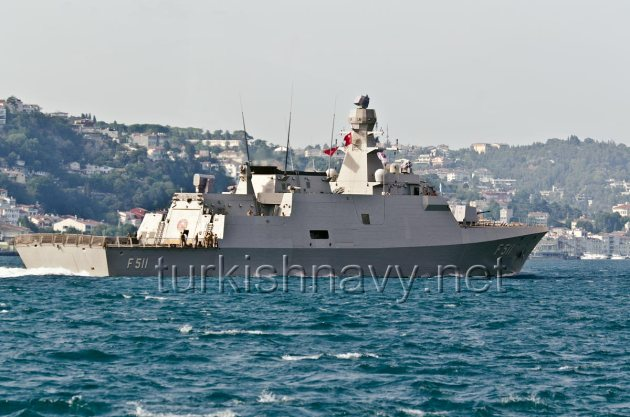 Turkish Milgem class corvette F-511 TCG Heybeliada. The flagship of the BlackSeaFor task force.