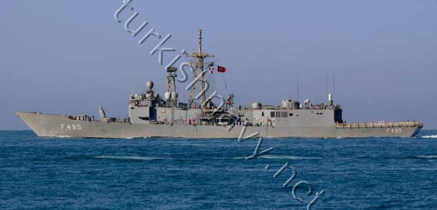TCG Gediz sailing in Marmara Sea