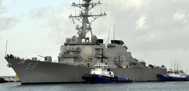 USS Laboon docking in Kuşadası harbour. Photo: haber7.com