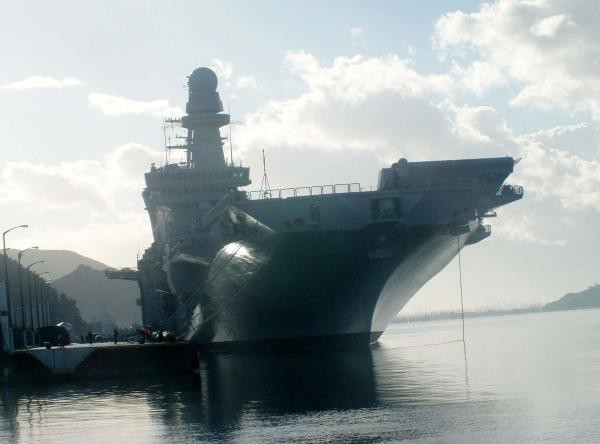 Italian aircraft carrier ITS C-550 Cavour in Marmaris.