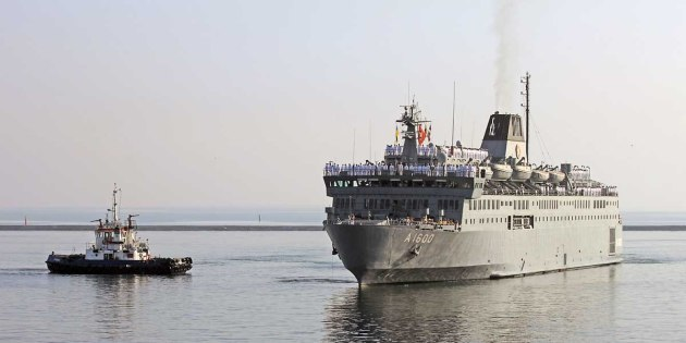 A-1600 TCG İskenderun enters into port of Odessa. Photo by Vladimir Trofimov, Odessa, specially for BSNews