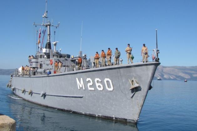M-260 TCG Erdemli, arriving in Vlores, Albania.