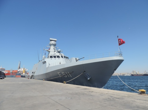 TCG Heybeliada, in Tripoli      Photo: Aimen Eljali