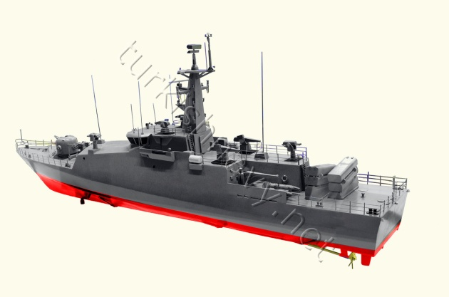 The model of the fast attack boat Dearsan is building for Turkmenistan.