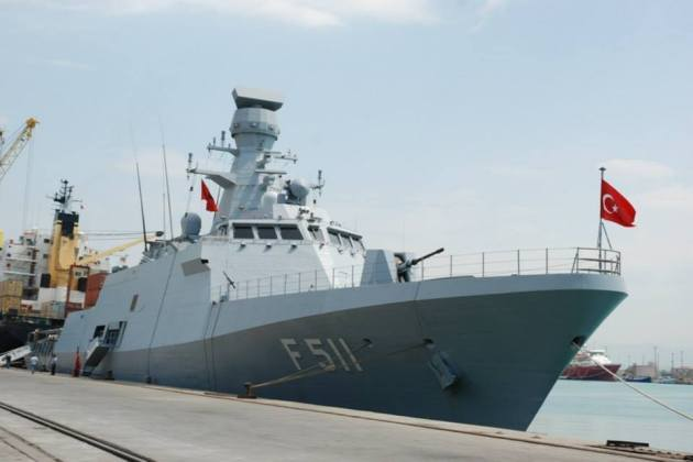 TCG Heybeliada in Durres, Albania. Photo: Albanian Military Forces