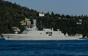 F-512 TCG Büyükada making a northbound passage on Bosphorus.
