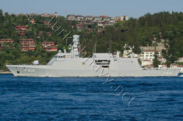 F-512 TCG Büyükada making a northbound passage on Bosphorus.