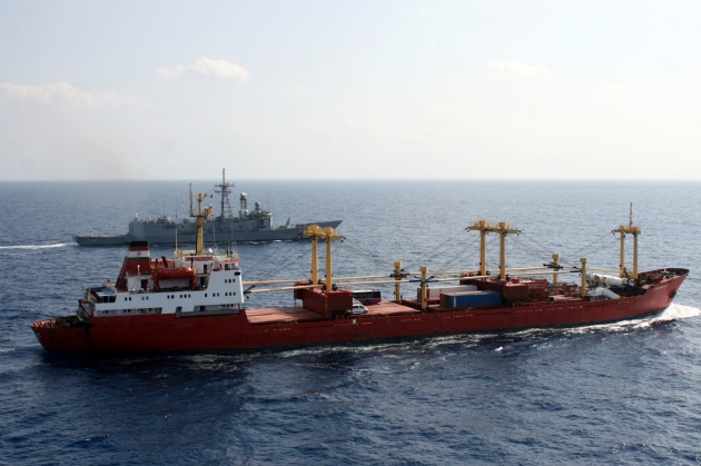 TCG Göksu escorted M/V Star Prince to Somalia.