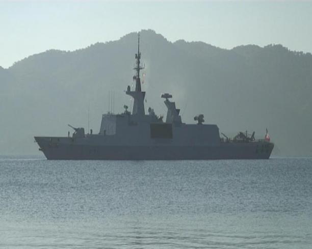 F-711 FS Surcouf arrives in Marmaris. Photo: haber7.com