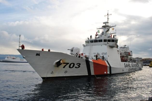 SG-703 TCSG Umut, docking in Messina. Photo: essepress.com
