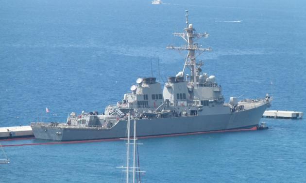 US destroyer USS Carney in Bodrum. Photo: Bodum'da Bugün