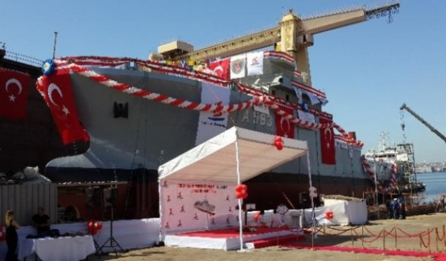 A-583 TCG Işın before the launching. Photo: stargundem.com