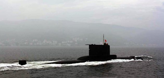 TCG Saldıray on her final cruise.