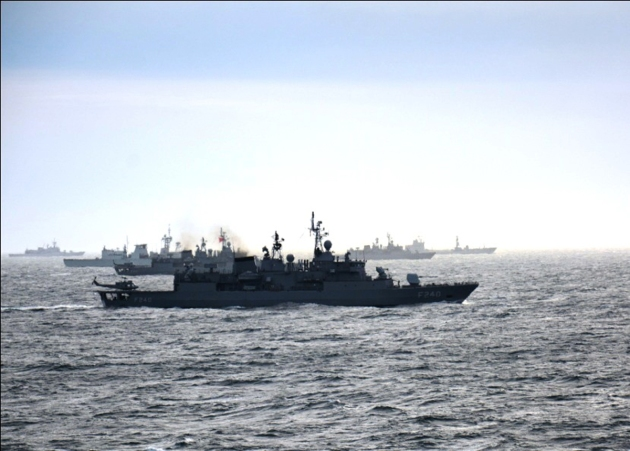 SNMG2 exercising with Turkish Navy