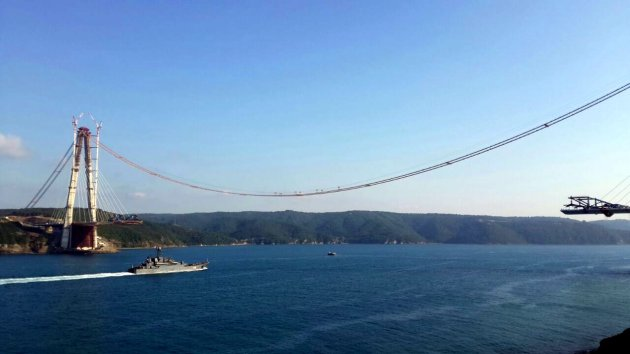 Russian landing ship Korolev returns to the Mediterranean. Photo: Tunç Süerdaş. Used with permission.