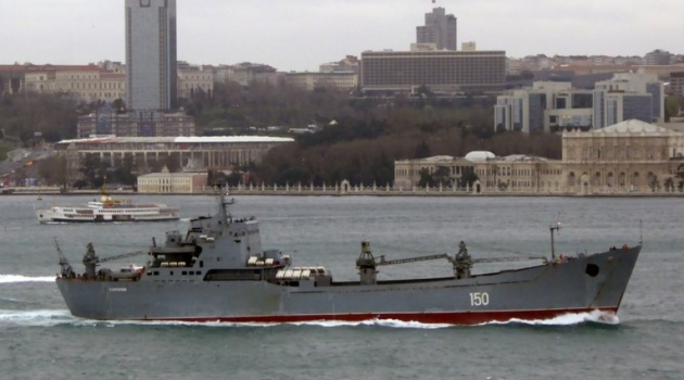 Russian Alligator class landing ship Saratov returns from her Syrian deployment. Photo: Alper Böler.