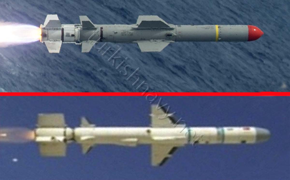 Tests of the Turkish anti-ship missile Atmaca 43