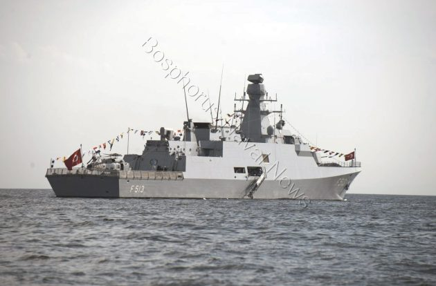 TCG Burgazada. The third Milgem class corvette.