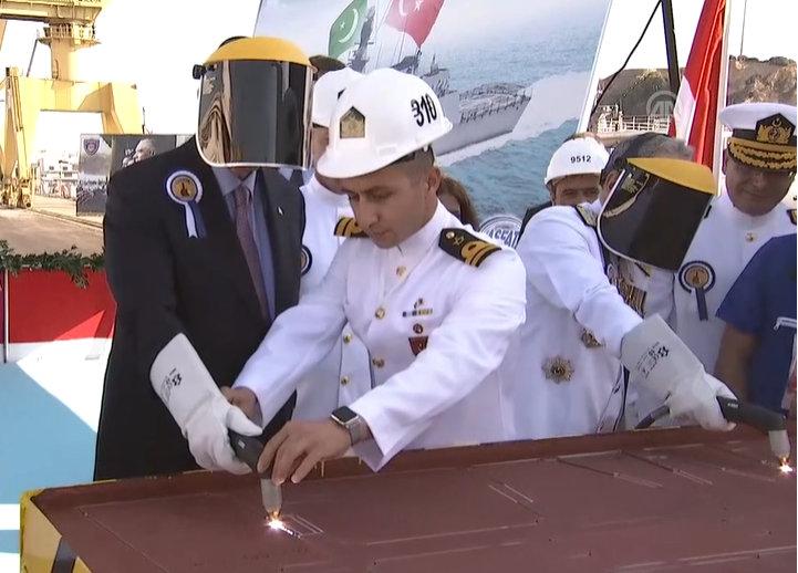 「First MILGEM Corvette under construction for Pakistan Navy」的圖片搜尋結果
